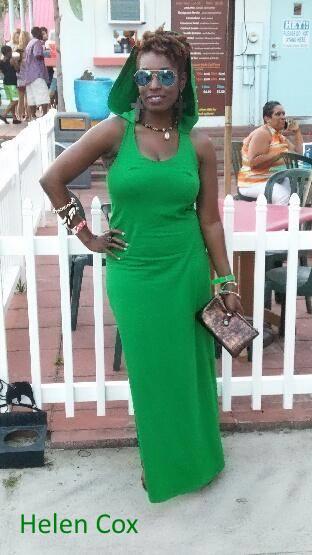 Helen is Pretty in Green!