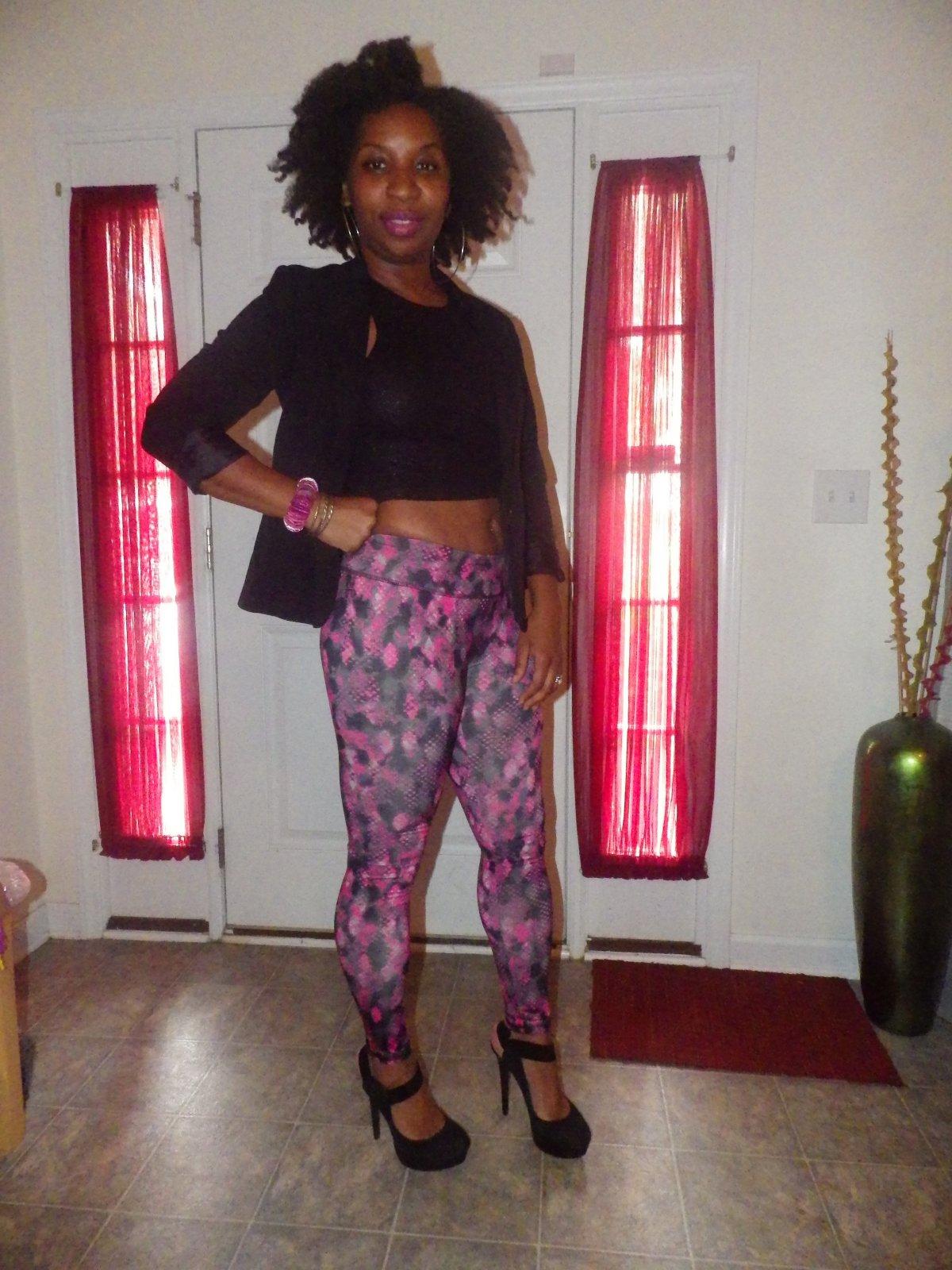 Print leggings for nightlife