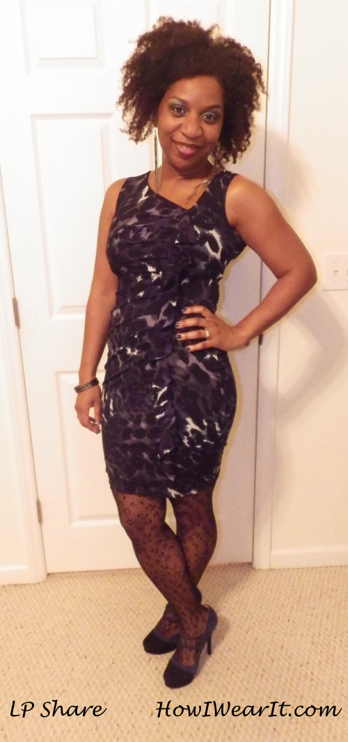 Cheetah print dress & stockings!
