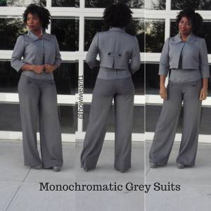 Monochromatic Grey Suit!