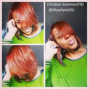 Copper Hair Color and Cute Thick Sweater!
